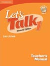 Lets Talk 1 Teachers Manual With CD (Second Edition)