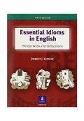 Essential Idioms in English 5th Edition