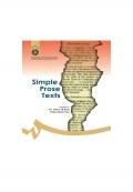 Simple Prose Texts متون نثر ساده