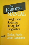 The Research Manual Design and Statistics for Applied Linguistics