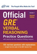 Official GRE Verbal Reasoning Practice Questions Volume 1 2nd Edition