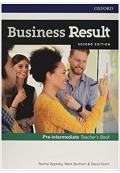 Business Result Pre-intermediate Teacher's Book Second Edition